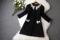 Luxury ladies fashion autumn handmade appliques beaded hollow out thin coat casacos femininos