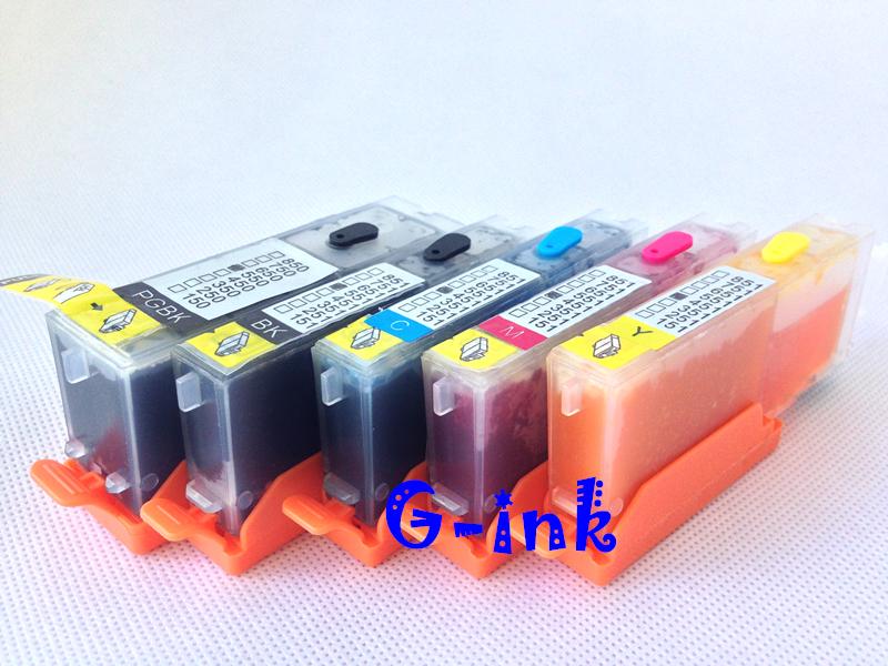 Картридж с чернилами G-ink 5 pgi/450 Canon PIXMA IP7240 MG5440 MX724 MX924 IX6840 MG5540 MG5640 MG6640 pgi 425 cli 425 refillable ink cartridges for canon pgi425 pixma ip4840 mg5140 ip4940 ix6540 mg5240 mg5340 mx714 mx884 mx894