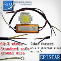 free shipping  10W 20W 30W 50W 100W COB  LED chip led flood light chip + One LED power supply Led floodlight driver