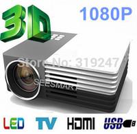 New Arrival!Full HD Mini portable LED  1080P 640*480 Digital Multimedia player Projector