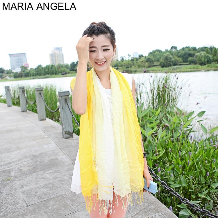 A cor brilhante praia gradiente toalha rayon fiado corante espaço capa cachecol protetor solar verão ar condicionado lenço de seda(China (Mainland))