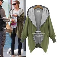 Hot Sale XXXXL Plus Size Women Hoody Hoodies Butterfly Long Sleeve Loose Solid Cardigans Casual Sweatshirt Coat 921