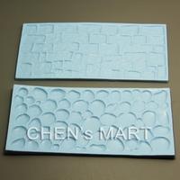 Free Shipping 10 set Cobblestone and Stone Wall Impression Mat Mould Cake Decorating baking Cake Decorator Tool