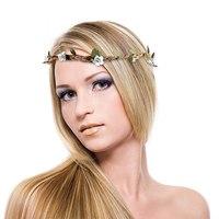 1PCS Free Shipping Wedding Party Beach Bride Flower Headband Garland Boho Girl Women Headdress Hairband