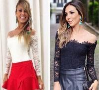 Free Shipping Spring Summer 2014 New Fashion Women Blouses Fashion Casual Lace Shirts Chiffon Blouses White Lace Tops CS4309