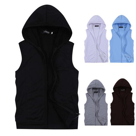 Heißer verkauf herren pullover ohne Ärmel sweatshirts herbst winter Liebhaber casual haube sportjacke herren mantel 5 farben, Größe m-xxl
