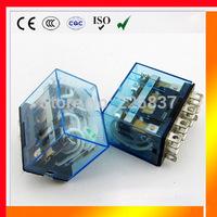omron LY4NJ HH64P (5pcs) LY4 JQX-13F electronic mini rele relay relais 24vac DC 12v 220v 48v 10A silver contact free shipping