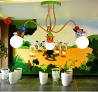 Children's bedroom Cartoon Animal ceiling light 3 head 85-265V Free Shipping E27 base Giraffe/Monkey/zabra