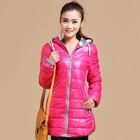 2014 down cotton-padded jacket female medium-long wadded jacket cotton-padded jacket plus size clothing wadded jacket