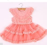 2014 Children Girls Cute Princess Party Beach CakeTutu Summer Dress AGE 1-6 Year