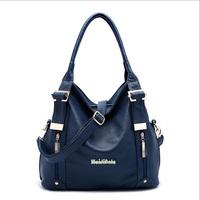 Hot genuine leather bag shoulder bags fashion crossbody bag 2015 women leather handbag tote bucket bag new women messenger bags