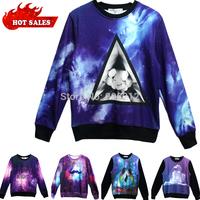 HOT!Thicken Autumn Men/Women Fashion Coat Winter Clothings Animal Alice Galaxy/Tiger/Sweatshirts space Printed Hoodies Plus size