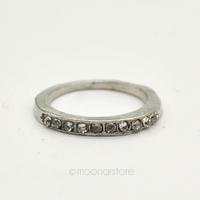 2014 Fashion vintage Women Simple Style Silver Gold Rhinestone Finger Ring Girls Ladies Fashion Jewelry free shipping FMHM240#S5