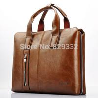 Luxury 2014 New Leather Men's handbags Men Shoulder Bag Messenger Briefcase Bags Laptop Bag  (NSB-007)
