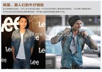 2014 Autumn Cotton Denim Jackets England Style Fashion Jacket Retro Jacket Casual Jacket Leisure Coat Free Shipping
