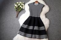 New Fashion Knitting Casual Women Sweater Dress Knitwear Sleeveless Party Tank Dress Elastic Slim Celebrity Dresses Hot Sale