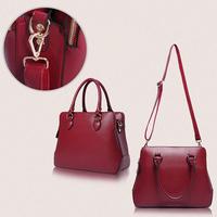 2014 New high quality women handbag vintage PU women handbag with shoulder belt women business bag free shipping