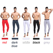 Male basic cotton long johns tight slim thin thermal underwear color 5(China (Mainland))