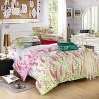 Home textile!Reactive printed Bedding set 3pcs/ 4pcs bedclothes bed linen  duvet cover Pillowcase set ,king Queen Full size