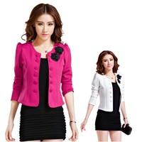 Factory price 2014 Fashion Brand Coat Jacket Women Suit Blazer Plus Size Basic Jackets Coats Blazers Full Sleeve Outerwear Coats