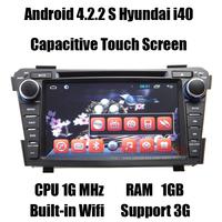 Android 4.2.2 Car Headunit GPS for Hyundai i40 Autoradio Navi with Dual Core CPU 1G MHz /RAM 1GB/ iNand flash 8GB Free shipping