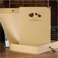 Gift box password lock quality diy photo album photo album handmade baby vintage lovers birthday gift big ben