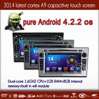 3color choose (gray,black,silver) Android 4.2.2 Car DVD GPS navi  for Opel Antara Zafira Corsa Vectra with Dual Core CPU 1.6GHZ