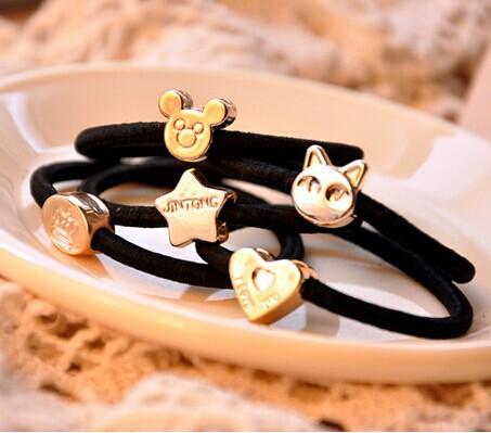 OH0193 10 pcs / lot high quality vintage metal black hair ring(China (Mainland))