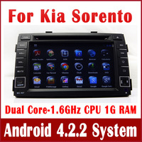 Android 4.2 PC Car DVD Player for Kia Sorento 2010 2011 2012 w/ GPS Navigation Radio TV BT USB CD AUX DVR 3G WIFI Tape Recorder