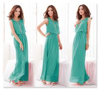 High Quality Version Of Super Long Elegant Chiffon Dress Bohemia Wind Sea Romantic Beach Dress 8827