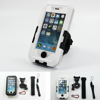 Free shipping 2014 Bike Handlebar Mount Holder Case cover For Iphone 6 4 4S 5 5S 5C Black white Waterproof