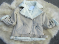 Free shipping Hot sale Female skull patch faux suede coat  fox fur short jacket  High quality Fashion style,made in Korea