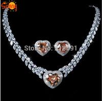 Restore ancient ways the princess bride Topaz sapphire  necklace earrings set