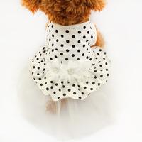 Armi store Dog Polka Dot Tutu Lace Yellow Princess Skirt 71013 Pet Pet Costume Free Shipping
