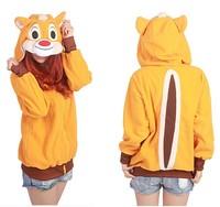 Cute Squirrel Chipmunk Animal Unisex Cosplay Hoody Hoodies Sweatshirt  Fashion Jacket Couple Clothes,S M L XL