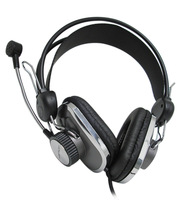 Fashion Black Noise isolating Headband Headset Headphone with microphone Earphone For Computer Play Gamer