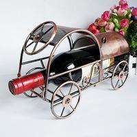 Furniture decoration ornaments iron wine rack wine rack creative gift car