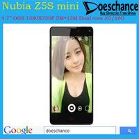 Original ZTE Nubia Z5S Mini Quad Core phones 4.7 inch OGS 1280x720 Snapdragon 600 1.7GHz 2GB RAM 16GB ROM 13MP camera Cell phone