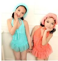 2014 children in the new female swimsuit/l/lovely type swimsuit / / girls bathing suit