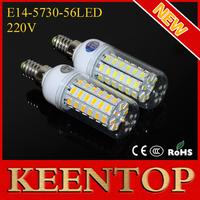 High Brightness SMD5730 56led E14 220V 18W Corn Bulbs Led lamps Spotlights Energy Efficient Pendant Lights Solar Lighting 1Pcs