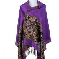 New Female Scarf Shawl Pashmina Large Size 200*70 cm Length Female 2014 Winter Warm Printed Lace Capes Wraps SCARF-82113