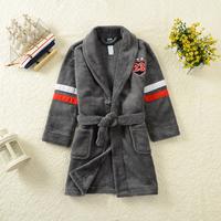 Retail 2014 new Autumn&Winter boys thermal bathrobe,kids quality flannel bathing suits,children lungewear,home dress sleepwear