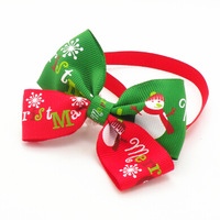 50PC/Lot New Christmas Holiday Dog Bow Ties Collar Dog Adjustable Neckties Pet Accessories Grooming Free Shipping