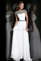 Fast Shipping 2014 Arabia Singer Myriam fares Straight O-Neck Cap Sleeve Chiffon Celebrity Dresses Designer SH167