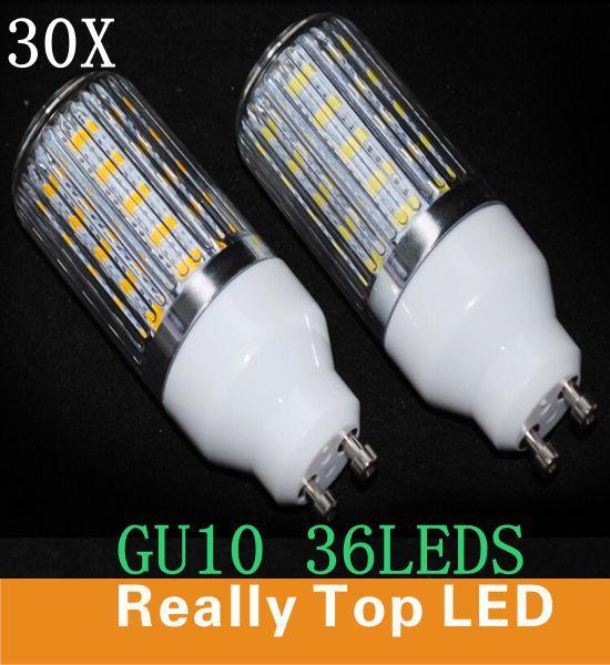 30x led lamp gu10 light 220V Diamond Surface Lights 5730SMD GU10 Corn Bulbs gu10 5730 36led lamps 11W Light Free Shipping 220V(China (Mainland))