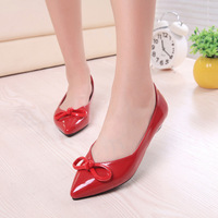 2014 spring bowknot women pumps Shallow low heel shoes women shoes fashion pumps work shoes yxx73