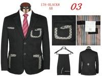 New 2014 Top Design Mens groom suit  With Pants  For Men Lattice Suit (Coat + Pants) Size S M L XL XXL XXXL Free Shipping