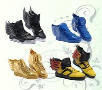 Free shipping Brand Autumn Men Women Flag JS OBYO Sport Tenis Running Jeremy Scott angel Wings 2.0 Sneakers Leather Shoes cn71