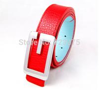 2014 south Korean brand classic letter head buckle Men PU belts,Men's Lady Candy color joker fashion leisure 100% PU belts women