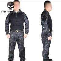 Men Military Paintball Combat Kryptek Typhon Emerson G2  Tactical Uniform Shirt Pants Knee Pads